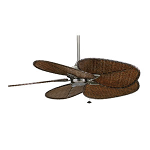 Windpointe Pewter 52-Inch Ceiling Fan with Antique Bamboo Blades