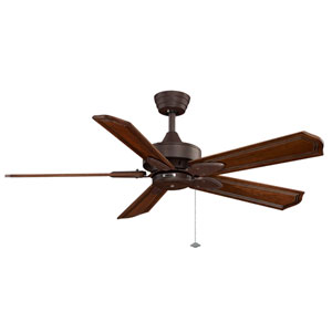 Windpointe Rust Ceiling Fan with Rich Cognac Blades