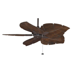 Windpointe Rust 52-Inch Ceiling Fan with Walnut Blades