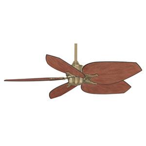 Islander Antique Brass Ceiling Fan with Dark Mango Blades