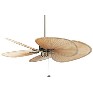 Islander Antique Brass 52-Inch Ceiling Fan with Wide Oval Palm Blades
