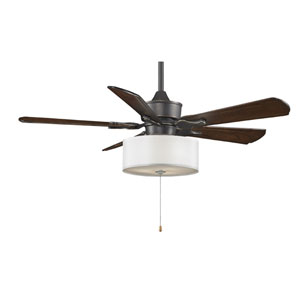 Islander Bronze Accent 52-Inch Ceiling Fan with Walnut Blades and Drum Light Kit