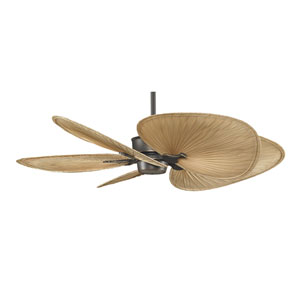 Islander Bronze Accent 52-Inch Ceiling Fan with Wide Oval Palm Blades