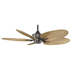 Islander Bronze Accent 52-Inch Ceiling Fan with Natural Oval Palm Leaf Blades