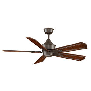 Islander Oil Rubbed Bronze Ceiling Fan with Rich Cognac Blades