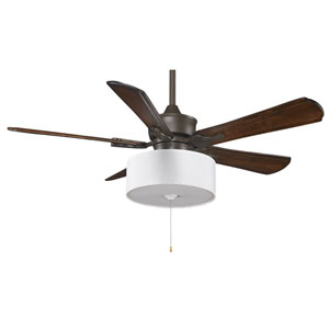 Islander Oil Rubbed Bronze 52-Inch Ceiling Fan with Walnut Blades and Drum Shade Light Kit