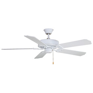 Aire Decor Builder Series Matte White Energy Star 52-Inch Ceiling Fan