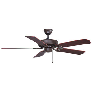 Aire Decor Builder Series Oil Rubbed Bronze Energy Star 52-Inch Ceiling Fan with Reversible Cherry/Walnut Blades