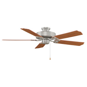 Aire Decor Builder Series Satin Nickel 52-Inch Energy Star Ceiling Fan with Reversible Cherry/Walnut Blades