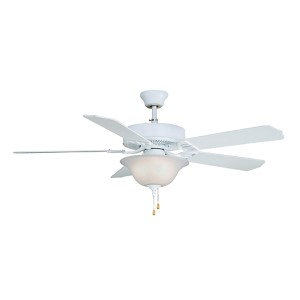 Aire Décor Matte White BP200 Builder Series Energy Star 220V Three-Light Ceiling Fan, Set of 5