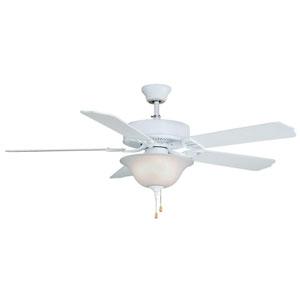 Aire Decor Builder Series Matte White 52-Inch Three-Light Ceiling Fan