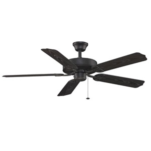 Aire Decor Builder Series Black 52-Inch Energy Star Blade Span Ceiling Fan w/ Black Blade