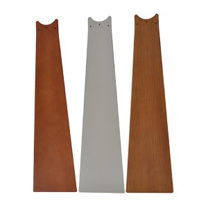 Kubix Satin Nickel 26-Inch All-Weather Composite Outdoor Ceiling Fan Blade, Set of 3