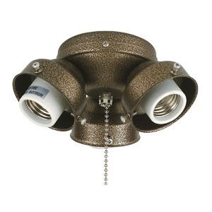 Aged Bronze Three-Light 220V Turtle Fitter for Light Kit
