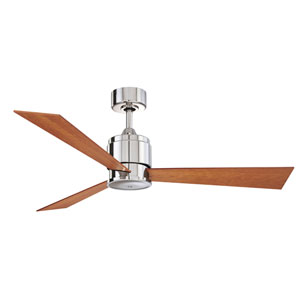 Zonix Polished Nickel 54-Inch Ceiling Fan with Cherry/Walnut Blades