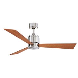 Zonix Polished Nickel 54-Inch Ceiling Fan with Cherry/Walnut Blades