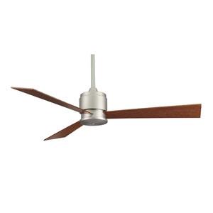 Zonix Satin Nickel Ceiling Fan with Cherry/Walnut Blades