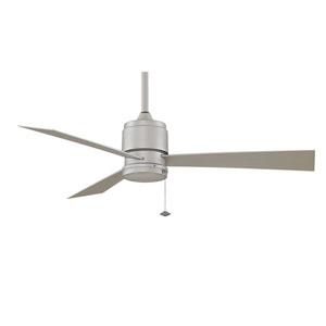 Zonix Satin Nickel Energy Star Outdoor Ceiling Fan