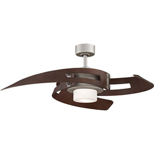 Avaston Satin Nickel 52 Inch Blade Span Ceiling Fan w/ Walnut Blade