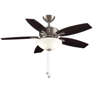 Aire Deluxe Brushed Nickel with Cherry and Dark Walnut Blades 44-Inch LED Ceiling Fan