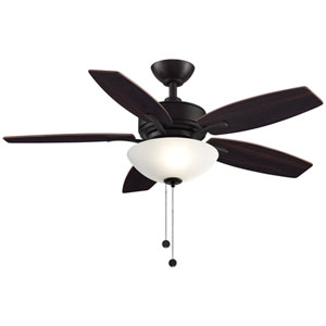 Aire Deluxe Dark Bronze with Cherry and Dark Walnut Blades 44-Inch LED Ceiling Fan