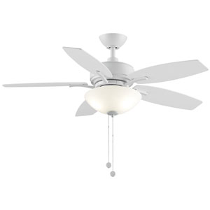 Aire Deluxe Matte White 44-Inch LED Ceiling Fan