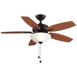 Aire Deluxe Dark Bronze 44-Inch Ceiling Fan with Light Kit