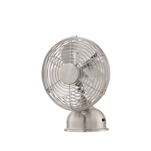 Junior Breeze Brushed Nickel 5-Inch Portable Fan