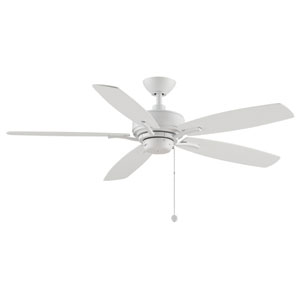 Aire Deluxe Matet White 23-Inch Ceiling Fan