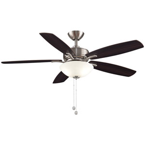 Aire Deluxe Brushed Nickel with Cherry and Dark Walnut Blades 52-Inch LED Ceiling Fan