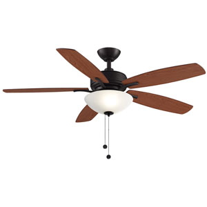 Aire Deluxe Dark Bronze with Cherry and Dark Walnut Blades 52-Inch LED Ceiling Fan