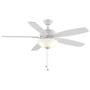 Aire Deluxe Matte White 52-Inch LED Ceiling Fan