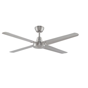 Ascension Brushed Nickel 56-Inch 220V Outdoor Ceiling Fan