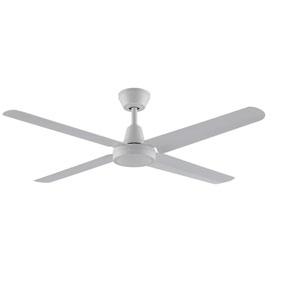 Ascension Matte White 56-Inch 220V Outdoor Ceiling Fan