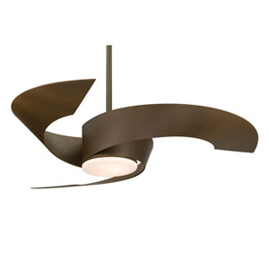 Torto Oil Rubbed Bronze 52-Inch Ceiling Fan with Opal Frosted Glass