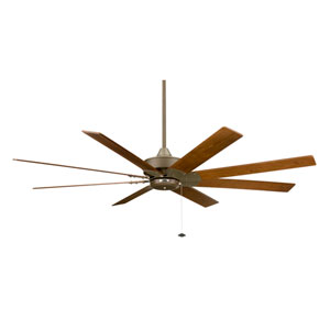 Levon Oil Rubbed Bronze Energy Star Ceiling Fan with Walnut Blades