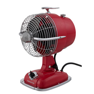 Urbanjet Spicy Red Table Fan with Black Blades