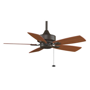 Cancun Oil Rubbed Bronze 42-Inch Ceiling Fan with Reversible Cherry/Walnut Blades