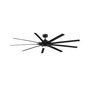 Odyn 84 Black 84-Inch Energy Star Ceiling Fan with LED Light Kit