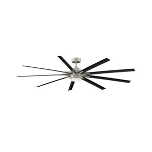 Odyn 84 Brushed Nickel 84-Inch Energy Star Ceiling Fan with LED Light Kit