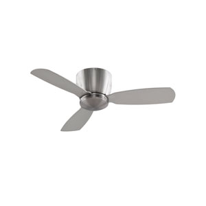 Embrace Brushed Nickel 44-Inch Ceiling Fan with Opal Frosted Glass