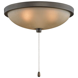 Aged Bronze Low Profile 14-Inch Three-Light Bowl Kit