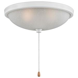White Low Profile 14-Inch Bowl Light Kit