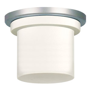 Zonix Satin Nickel Fluorescent Light Kit with Opal Glass