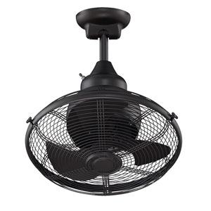 Extraordinaire Black 18-Inch Orbital Ceiling Fan