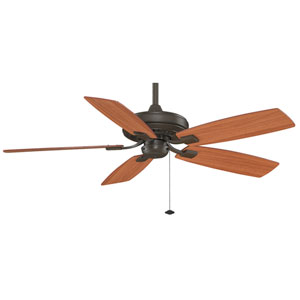 Edgewood Decorative Oil Rubbed Bronze 52-Inch Energy Star Ceiling Fan with Reversible Cherry/Walnut Blades