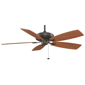 Edgewood Deluxe Oil Rubbed Bronze Energy Star 60-Inch Ceiling Fan with Reversible Cherry/Walnut Blades