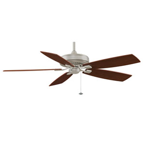 Edgewood Deluxe Satin Nickel Energy Star 60-Inch Ceiling Fan with Reversible Walnut/Light Walnut Blades
