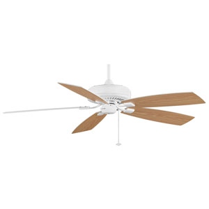 Edgewood Deluxe White Energy Star 60-Inch Ceiling Fan with Reversible White/White Oak Blades