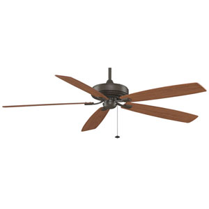 Edgewood Supreme Oil-Rubbed Bronze 72 Inch Blade Span Ceiling Fan w/ Cherry/Walnut Blade